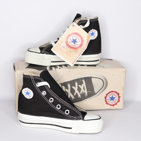 Vintage New Converse All Star Hi Shoes Youth 9.5 NWT